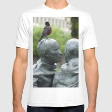 A Little Bird Told me a Secret Mens Fitted Tee SMALL White