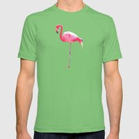 Pink Flamingo Mens Fitted Tee Grass SMALL