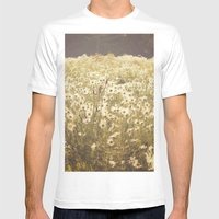 Spinning Daisies Mens Fitted Tee White SMALL