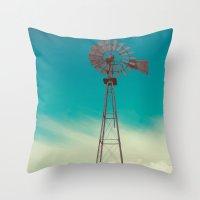 WINDMILL SKY  Throw Pillow
