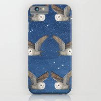 iPhone & iPod Case featuring Barn Owl at Night by Heather Bechler