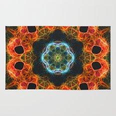 Fiery barnacles kaleidoscope 2 Rug