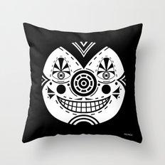 Priest Circle- black on black Throw Pillow