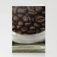 Coffee Beans In Glass Ja… Stationery Cards