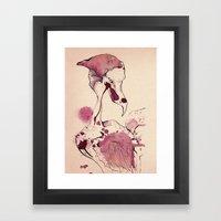 Hoploid Heron Framed Art Print