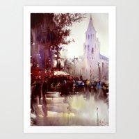 Paris atmospheric #5 Art Print
