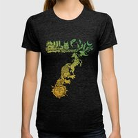The 7 Kingdoms Womens Fitted Tee Tri-Black SMALL
