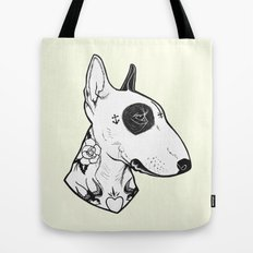 Bull Terrier dog Tattooed Tote Bag