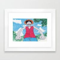 Monkey Art Luffy Framed Art Print