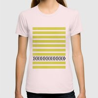 STRIPES AND ARROWS Womens Fitted Tee Light Pink SMALL