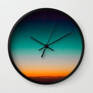 Wall Clock featuring Blue And Yellow Magic Da… by AC Photography