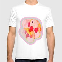 Twin Ducks Mens Fitted Tee White SMALL