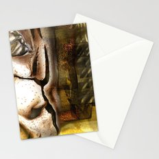 Between a rock and a hard place Stationery Cards