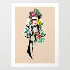 The Art of Frida Kahlo Art Print