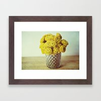 Yellow Makes Me Happy Framed Art Print