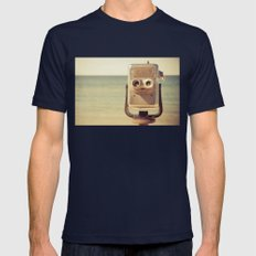 Robot Head Mens Fitted Tee Navy SMALL