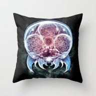 Throw Pillow featuring The Epic Metroid by Barrett Biggers