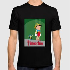 Pinocchio Mens Fitted Tee Black SMALL