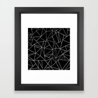 Ab Dotted Lines   Framed Art Print