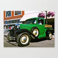Canvas Print featuring Mr. Frog classic truck by Vorona Photography