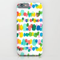 iPhone Cases featuring Paradise Dots by Jacqueline Maldonado