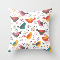 Quirky Chicks Throw Pillow