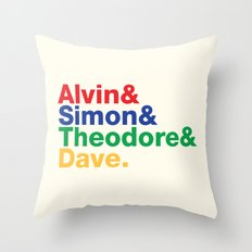 ALVIN&SIMON&THEODORE&DAVE. Throw Pillow