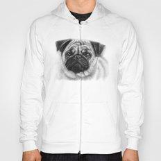 Cute Pug Portrait Hoody