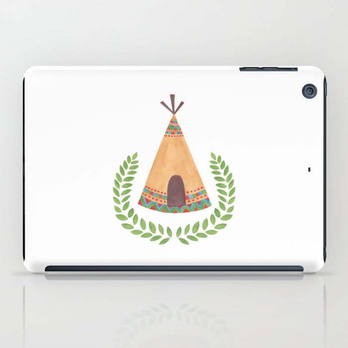 Tipi Watercolor Illustration on Tablet Case by Haidi Shabrina