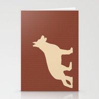 Stationery Card featuring German shepherd art by ialbert