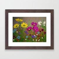 Spring Wild flowers  Framed Art Print