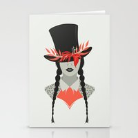Lady in Hat Stationery Cards