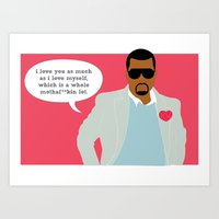 Love You This MF'in Much Art Print
