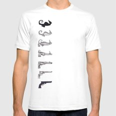 This is my seahorse, this is my gun... Mens Fitted Tee SMALL White