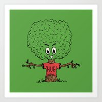 Tree Hugger Art Print