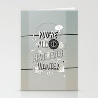 All I Want Stationery Cards