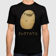 Pugtato Mens Fitted Tee SMALL Black