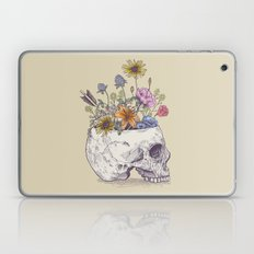 Half Skull Flowers Laptop & iPad Skin