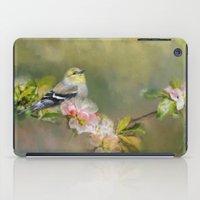 Goldfinch In The Garden iPad Case