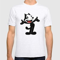 Felix the Cat  Mens Fitted Tee Ash Grey SMALL