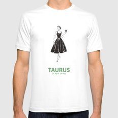 Taurus Mens Fitted Tee White SMALL