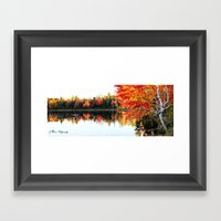 Autumn Capture Framed Art Print