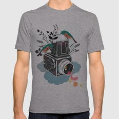 Vintage Camera Hasselblad Mens Fitted Tee Athletic Grey SMALL