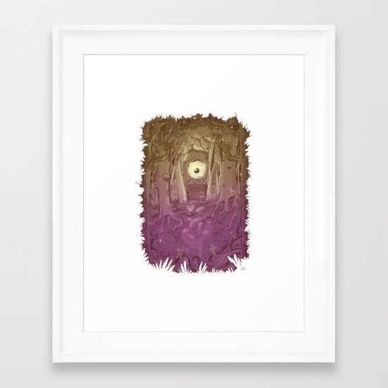 Forest Eye Framed Art Print