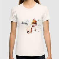 Burgery is a Sin Womens Fitted Tee Natural SMALL