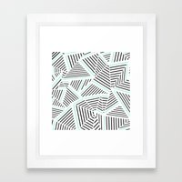 Ab Linear Zoom With Mint Framed Art Print