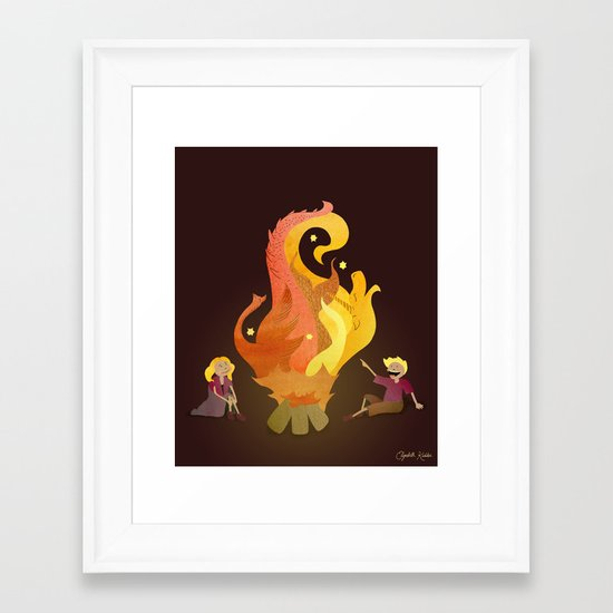 Campfire Magic Framed Art Print