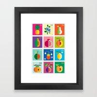 Fruit Stamps 12 Framed Art Print