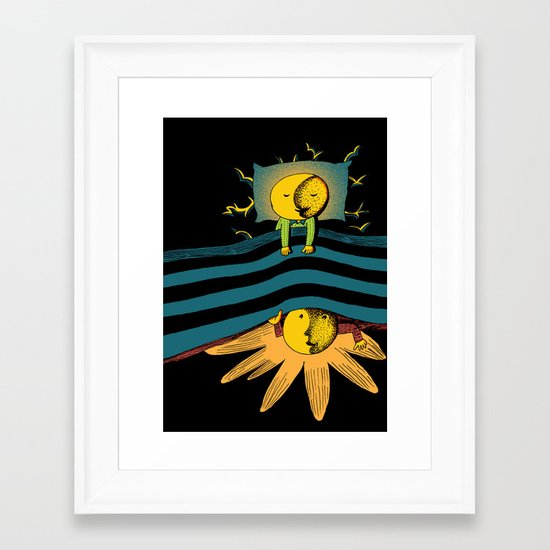 Time In Bed Framed Art Print