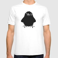 Baby Raven, Wink White SMALL Mens Fitted Tee